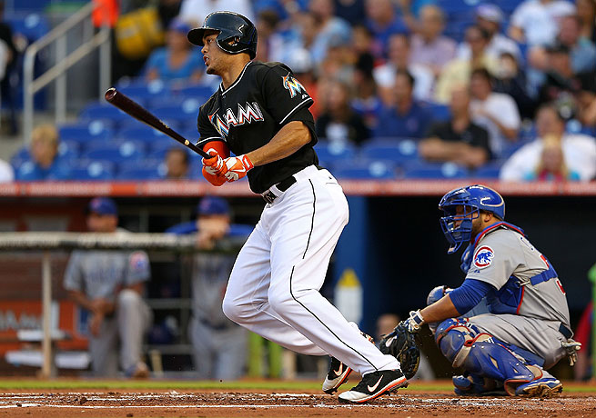Giancarlo Stanton has not displayed much power this season, notching only three home runs so far.