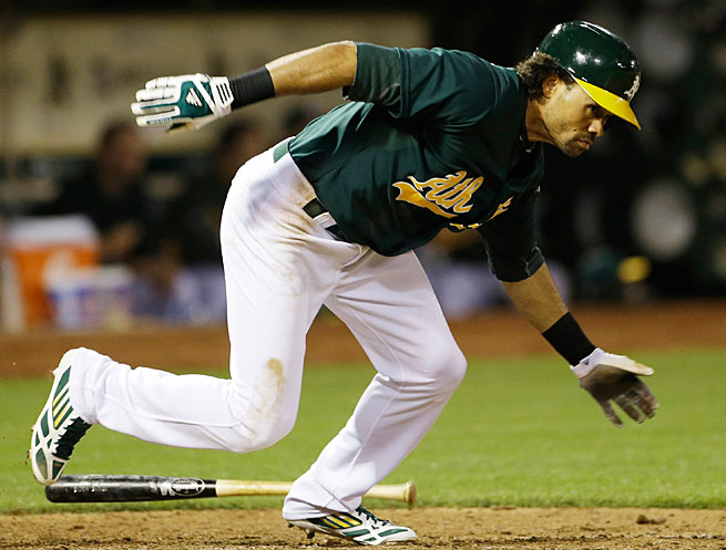 Coco Crisp is hitting .283 and is second in the AL with 24 runs scored.