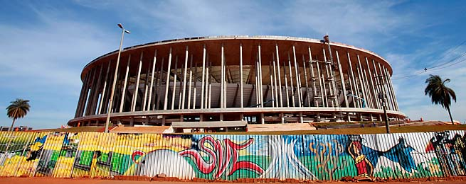 The National Stadium in Brasilia will host matches during the 2014 World Cup.