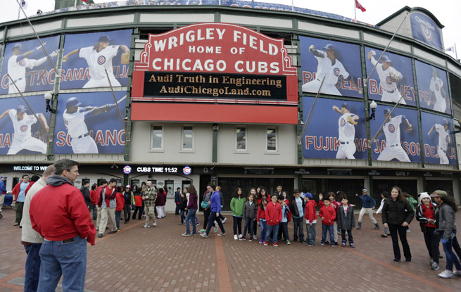 Wrigley Field is scheduled for a $500 million renovation, including a 6,000-square-foot video screen.