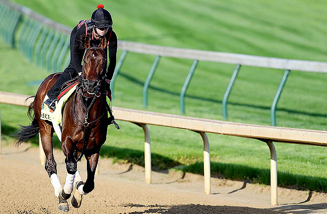 In the backdrop of the proposal is the Kentucky Derby where Orb (above) starts as a 7-2 favorite.