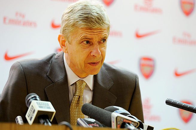 Arsene Wenger and Arsenal are in fourth place in the Premier League, two points ahead of Spurs.
