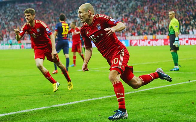 Arjen Robben and Bayern Munich will play Dortmund in the Champions League final on May 25.