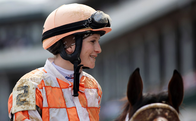Rosie Napravnik finished in ninth place in the 2011 Kentucky Derby.