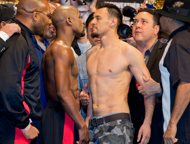 Floyd Mayweather will put his perfect 43-0 record to the test against Robert Guerrero on Saturday night.