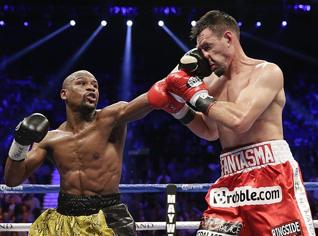 Ringside punch stats showed Mayweather landing 60 percent of his power punches, an unusually high rate. That included 23 of 30 power punches in the eighth round, when Guerrero was wobbled.