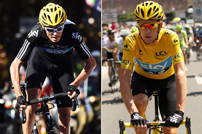 Chris Froome (left) was chosen as Team Sky's leader for the Tour de France, decreasing his chances to win back-to-back Tours.
