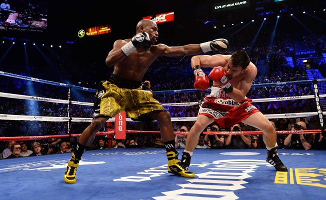 Floyd Mayweather defeated Robert Guerrero in what was Mayweather's first bout on Showtime.