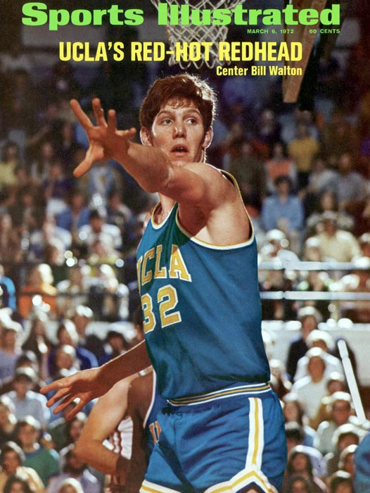 Playing for John Wooden during UCLA's run of seven straight national titles, Walton was dominant. He won the Naismith Player of the Year award three straight times. Walton also put together the best national title game performance ever. He made 21 of 22 shots as UCLA beat Memphis for the 1973 title.
