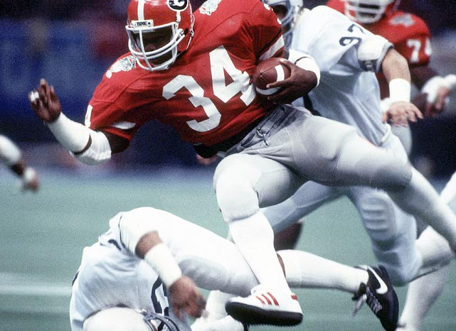 That Walker had to wait until his junior year to finally win the Heisman may be the most surprising thing about his career. The Georgia running back ran for 1,616 yards and 15 touchdowns as a freshman. Those numbers were nearly identical to Heisman winner George Rogers' stats. Walker ranked in the top-3 in Heisman voting each year and ran through and around defenders with ease. He finished for 49 touchdowns and nearly 5,300 yards in his three seasons.