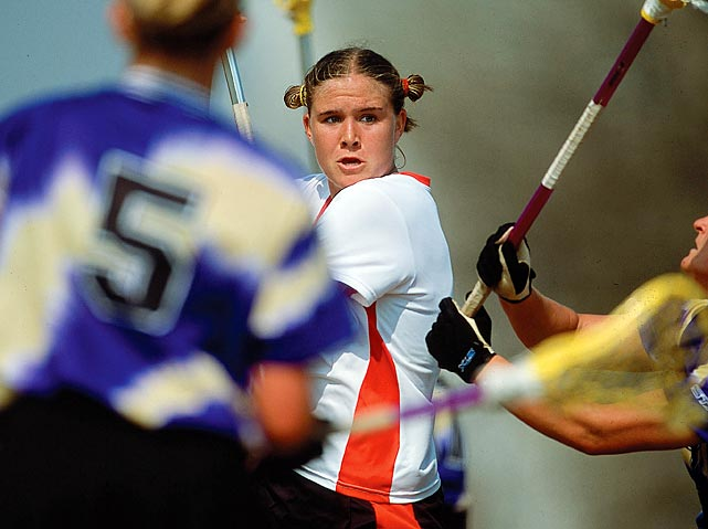 The most prolific offensive player in NCAA lacrosse history, Adams is considered by many to be the best in her sport's history. A three-time National Player of the Year, Adams led the Terrapins to four national titles as part of Maryland's run of seven straight. Her 445 points and 178 assists top the NCAA record books.