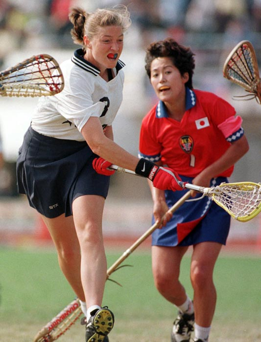 Amonte didn't waste any time making her presence felt at Maryland: She was an All-America in both lacrosse and soccer as a freshman. She finished as a four-time All-America and two-time National Player of the Year in lacrosse and led the Terrapins to national titles in 1995 and 1996. She's now the coach of Northwestern's powerhouse women's lacrosse program, winners of seven of the past eight national titles.