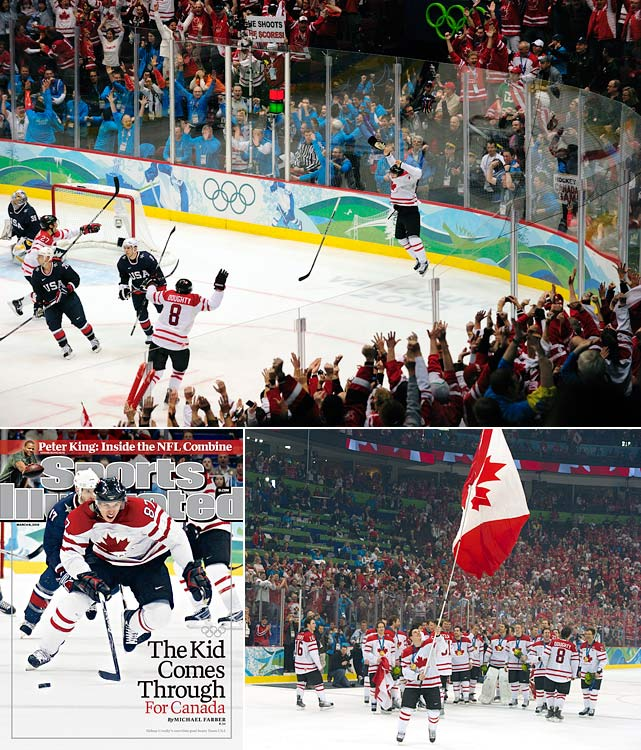 Men's hockey gold was the most precious medal for the host nation at the Vancouver Games. But favored Team Canada was not the best team in preliminary play, and Crosby came under a bit of criticism. Canada recovered and reached the gold medal game against the United States. It went to overtime, where Crosby scored the golden goal against Ryan Miller.