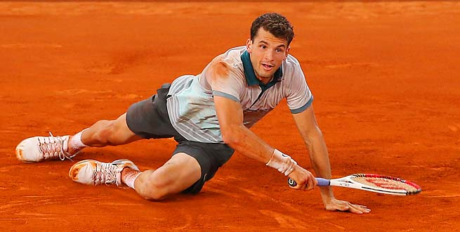 Grigor Dimitrov will play Stan Wawrinka or Santiago Giraldo in the next round.