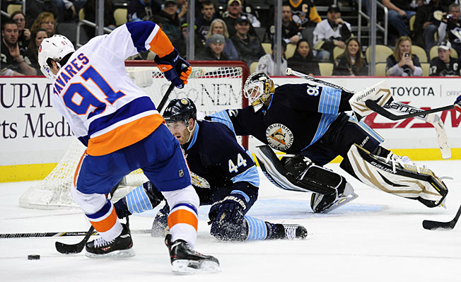 Tomas Vokoun (13-4-6 with 2.45 GAA, .919 save pct. this season) beat the Islanders three times.