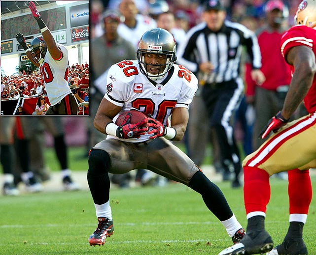 Buccaneers cornerback and safety Ronde Barber announced his retirement on May 9. The five-time Pro Bowl pick was taken in the third round of the 1997 NFL Draft and played his entire career in Tampa Bay. The twin brother of former Giants running back Tiki Barber, Ronde was expected to see less playing time this season after the Bucs signed free agent safety Dashon Goldson in March. Tampa also acquired cornerbacks Darrelle Revis (trade) and Jonathan Banks (draft). Barber finished his NFL career with 28 sacks and 47 interceptions, including eight that he returned for touchdowns.