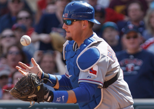 A.J. Pierzynski is hitting .263 with four home runs and 11 RBI in his first season for the Rangers.
