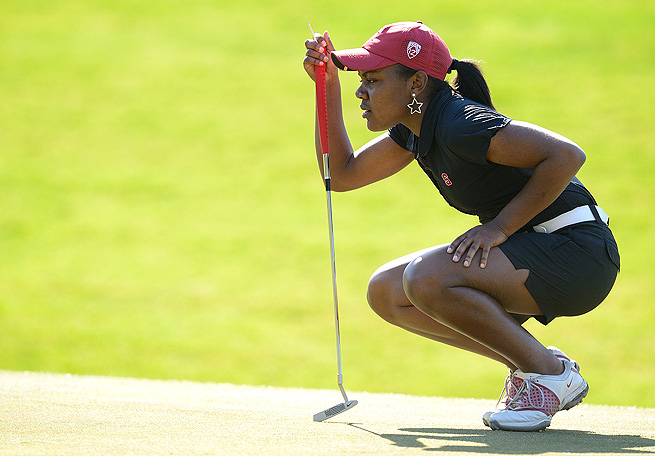 Freshman Mariah Stackhouse has helped Stanford to three consecutive tournament victories this spring.