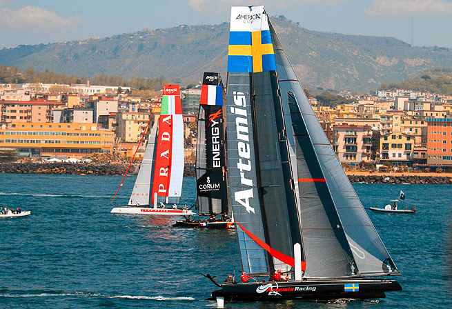 The Artemis Racing sailboat capsized in San Francisco Bay, killing one sailor.