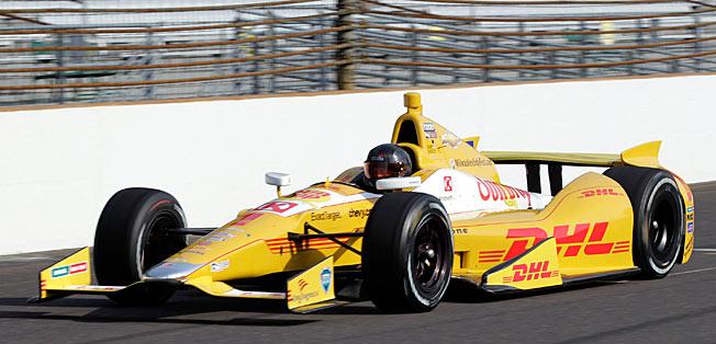 Former NASCAR champion Kurt Busch hit 218 miles per hour in Ryan Hunter-Reay's car.