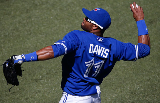 Rajai Davis is hitting .284 with one homer and four RBIs in 26 games.