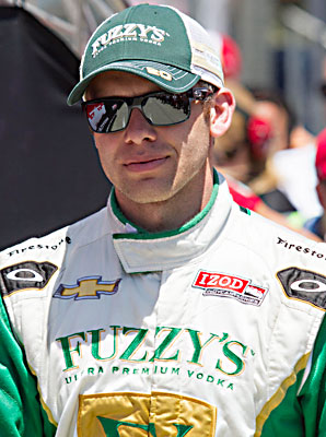Ed Carpenter exceeded 220 mph despite difficult conditions.