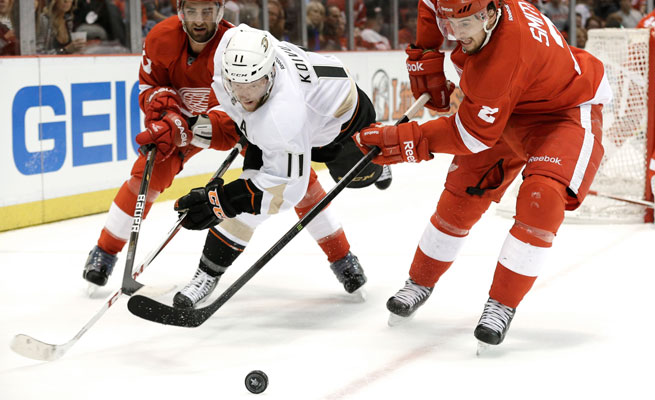 Four of the first six games between the Ducks and Red Wings have gone overtime.