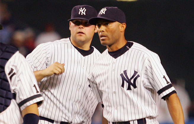 Joba Chamberlain (left) was unhappy with Mariano Rivera for telling him to keep his voice down.