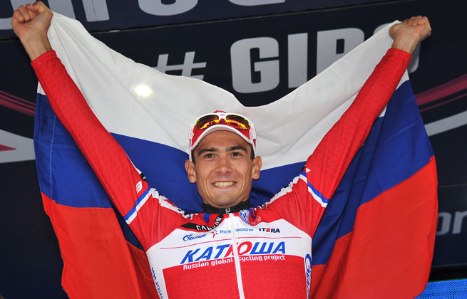 Maxim Belkov won in 4 hours, 31 minutes and 31 seconds, beating Carlos Betancur by 44 seconds.