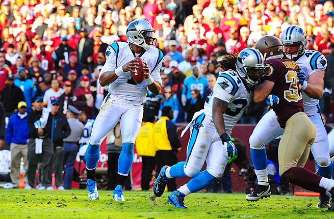 Cam Newton has thrown for 7,920 yards and 40 touchdowns in his 32 starts for the Carolina Panthers.