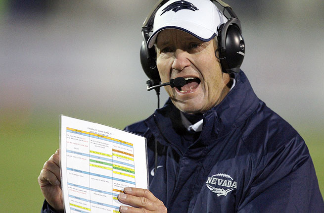 Chris  Ault utilized the offense at Nevada with Colin Kaepernick, now with the San Francisco 49ers.
