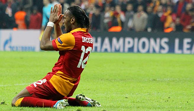Didier Drogba was heckled in Galatasaray's 2-1 loss to Fenerbahce.