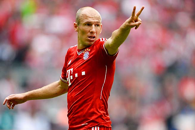 Arjen Robben and Bayern Munich face Dortmund in the Champions League final May 25.