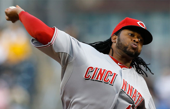 Johnny Cueto has been on the disabled list since April 15 because of a strained muscle in his upper right arm.