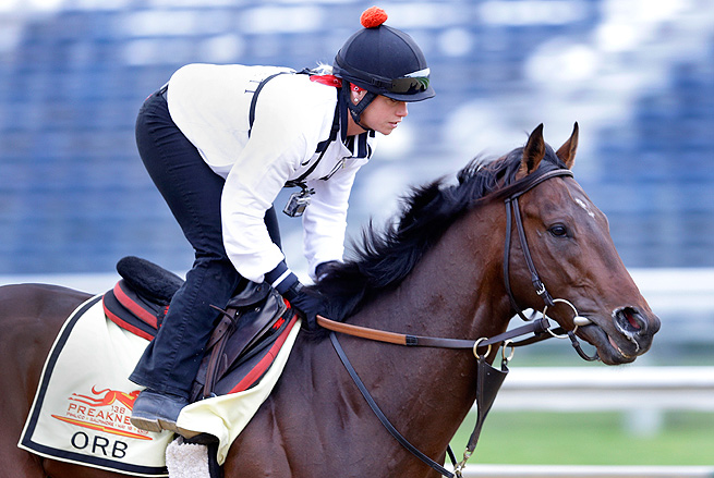 Orb drew the No. 1 spot for the Preakness, where he risks being pinned on the rail or pushed back.
