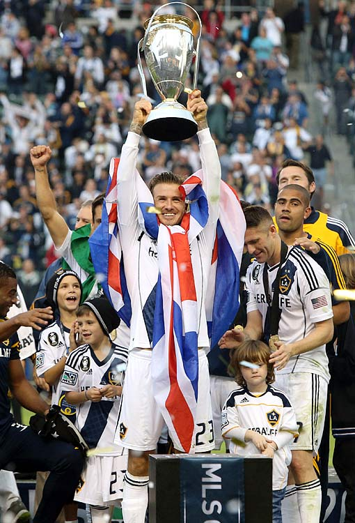 Beckham, who had said that the 2012 MLS Cup would be his last game with the Galaxy, ended his MLS career on a high note. He helped the Galaxy win their second consecutive MLS Cup, again defeating the Houston Dynamo in Los Angeles.