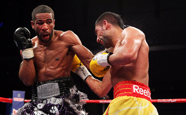 Lamont Peterson's rematch vs. Amir Khan (right) was called off after Peterson failed a drug test.