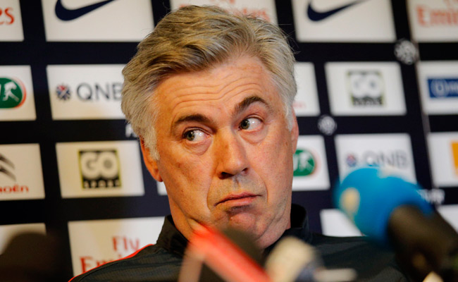 Carlo Ancelotti was appointed as PSG's manager in December 2011.