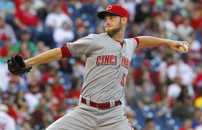 Tony Cingrani made his sixth start in Friday night's 5-3 loss to the Phillies. He was 2-0 with a 3.27 ERA.