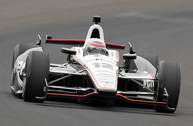 Will Power posted a four-lap qualifying average of 228.844 mph to tentatively grab the Indianapolis 500 pole.
