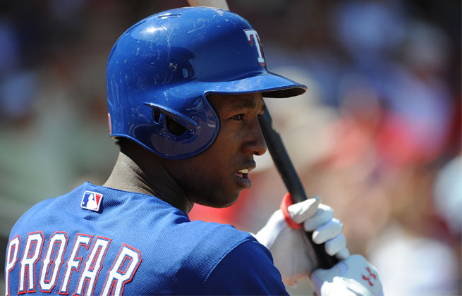 Jurickson Profar, who was hitting .278 in Triple-A, will replace the injured Ian Kinsler.
