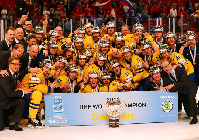 Sweden delighted its hometown fans by winning the country's first world championship in 27 years.