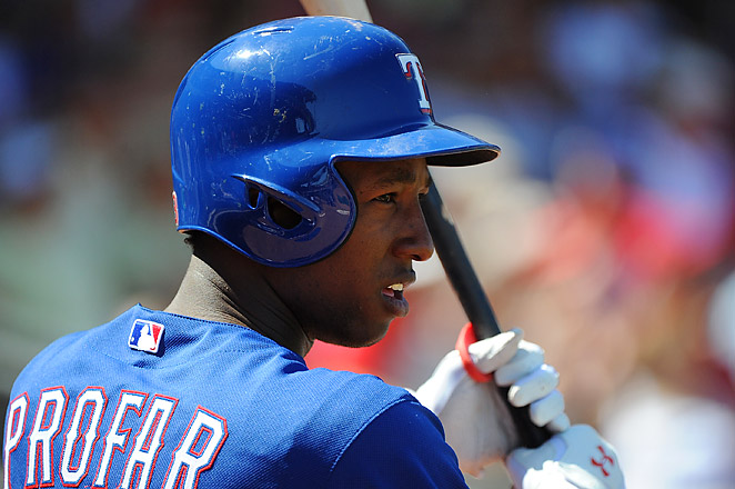 Jurickson Profar, at four months younger than Bryce Harper, will be the youngest player in the majors.