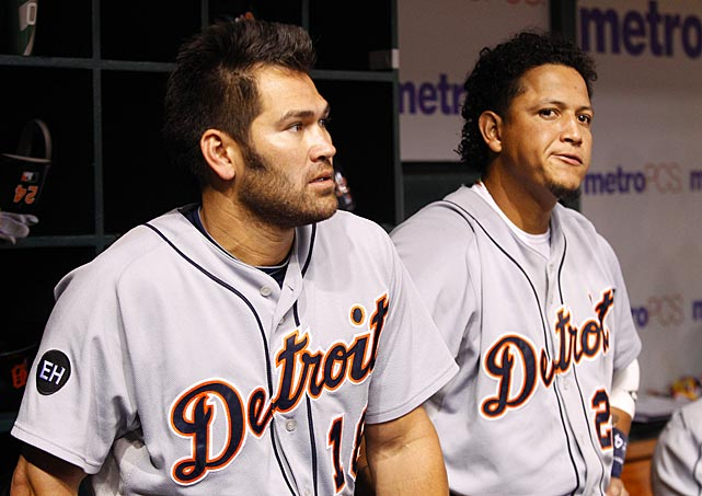 Johnny Damon and Cabrera during a 3-2 loss to the Tampa Bay Rays in St. Petersburg.