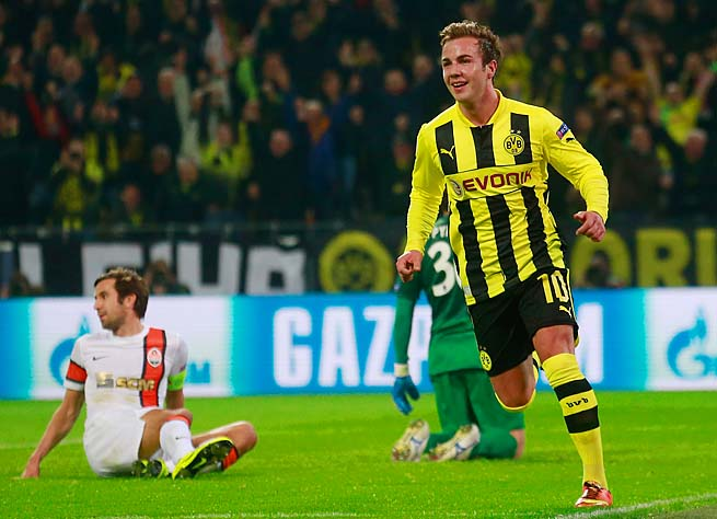 Mario Goetze had 10 goals for Dortmund in Bundesliga player this season, fourth on the club.