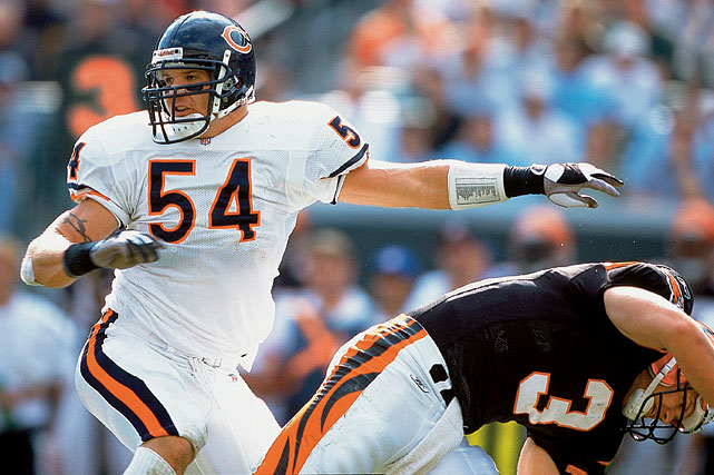 The heartbeat of the Bears' defense for 13 years, linebacker Brian Urlacher tweeted out his retirement announcement on May 22. The 2005 NFL Defensive Player of the Year spent his entire career in Chicago, and made a team-record 1,779 tackles, along with 22 interceptions and 41.5 sacks. He played in the Pro Bowl eight times.