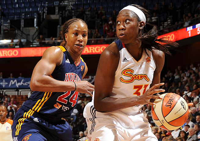 In her third WNBA season, Tina Charles (right) won the WNBA's most valuable player award.