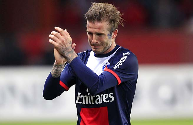 David Beckham gave a teary farewell in his last match with Paris Saint-Germain last week.