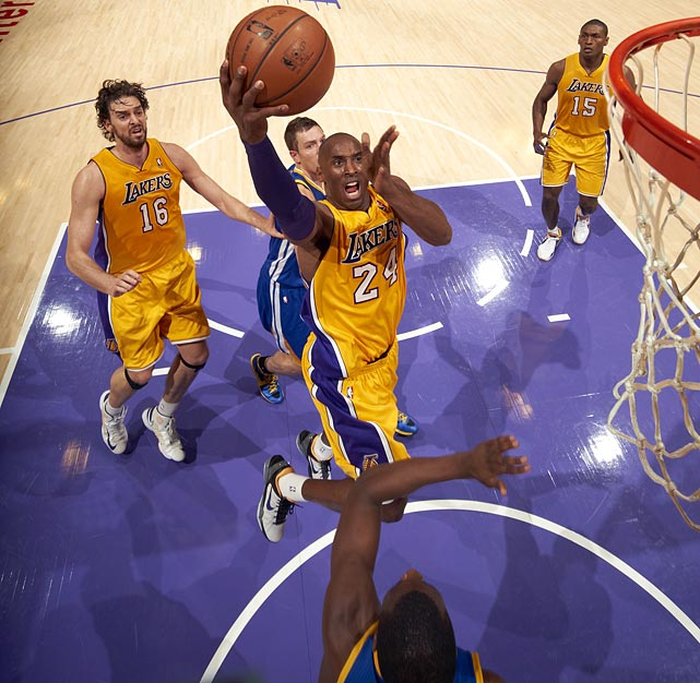 <bold>1st Team Votes: 91 | Points: 521</bold> <bold>27.3 points | 6 assists | 5.6 rebounds | 1.4 steals</bold> Prior to a season-ending injury, Bryant, 34, was having one of his best offensive seasons, acting as both distributor and primary scorer for the Lakers.