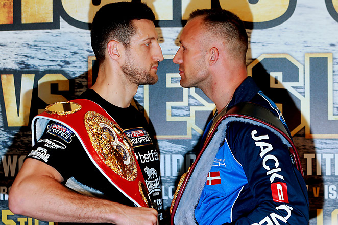Carl Froch (left) fell to Mikkel Kessler in Denmark back in 2010.